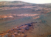 Red/Purple Rocks Near Endeavour Crater, variant (sjrankin) Tags: 7april2018 edited nasa mars opportunity endeavourcrater rocks sand sky rgb colorized bands257