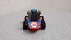 LEGO Rocket Racer's Car Front- by DRY1994 (DRY1994) Tags: lego racers game rocket racer minifigures series 18 car 2018 redwhite blueracecar 40 race rr moc