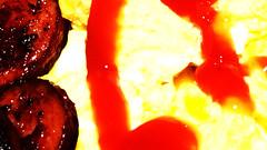 Ketchup (Eggs and smoked sausage ;) HMM! (Jon Hughes2) Tags: macromondays condiments macro nikond3100 nikkorp55mmmacro food