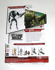 heavy assault super battle droid cw11 star wars the clone wars red white packaging cardback basic action figures 2009 hasbro mosc b (tjparkside) Tags: heavy assault super battle droid droids star wars clone tcw hasbro basic action figure figures cw11 cw 11 red white packaging card cardback 2009 galactic game dice die display base stand missile infantry assaults firepower integrated weapons arm cannon army mace windu admiral yularen jawa jawas commander gree arf trooper