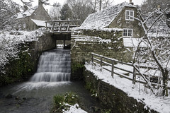 Waterfall at Corfe Castle (Andrew Dorey) Tags: corfecastle corfe snow winter cold snowscape isleofpurbeck purbeck waterfall
