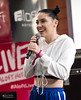 Bishop Briggs @ SXSW 2018 (Kirk Stauffer) Tags: kirk stauffer photographer nikon d5 adorable amazing attractive awesome beautiful beauty charming cute darling fabulous feminine glamour glamorous goddess gorgeous lovable lovely perfect petite precious pretty siren stunning sweet wonderful young female girl lady woman women live music tour concert show gig song sing singer songwriter vocals performer musician band group lights indie pop rock long brown hair brunette buns red lips eyes white teeth model tall fashion style portrait photo smile smiling princess leia