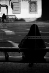 Attendre, le temps trépasse (Rachelnazou) Tags: caffenol blackwhite minolta film analog argentique