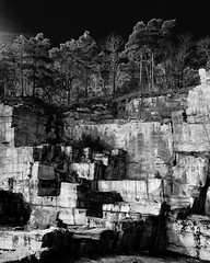 magic roman quarry! (m_laRs_k) Tags: roman quarry baddürkheim germany omd olympus monochrome blackandwhite noir