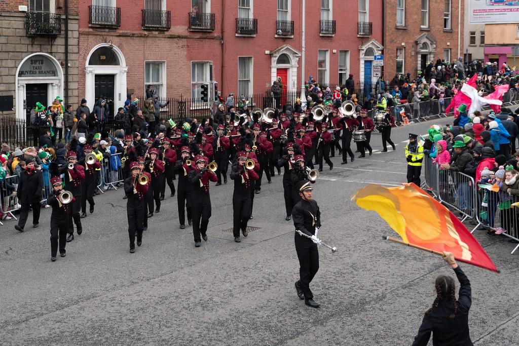 La Cañada High School Marching Spartans[ Patricks Day Parade In Dublin 2018]-137611