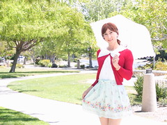 day284-24 Just a Happy Sunny Day (Yumiko Misaki) Tags: day284 blouse skirt dress ankrouge lizlisa primepattern kawaii cute transgender transsexsual transvestite crossdresser crossdressing