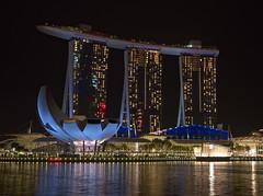Marina Bay Sands (Loryan) Tags: loryan olympus omd casino marinabaysands singapore night reflections water bay building architecture
