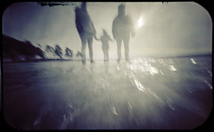 On Ice (batuda) Tags: pinhole obscura stenope lochkamera analog analogue tin altoids mediumformat 6x9 paper kodak polymax d76 11 color colour wide wideangle lowangle landscape winter ice tree trees sea human silhouette kauno marios kaunas pažaislis lithuania lietuva
