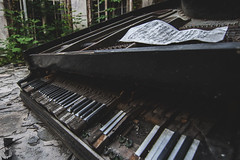 Summertime sadness (Denisa Colours of Decay) Tags: abandoned abandonedplaces urbex urbanexploration urban exploration explore exploring forgotten lost lostplace lostplaces decay piano poland palace decaying detail sheets canon summer czphoto