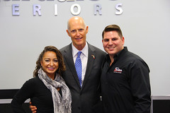 Paradise Exteriors Hurricane Impact Windows and Doors Florida Governor Rick Scott Governor's Business Ambassador Award