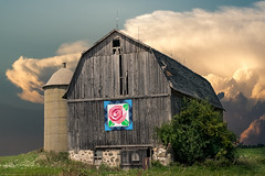Bright Hope (henryhintermeister) Tags: barns minnesota oldbarns clouds farming countryliving country sunsets storms sunrises pastures nostalgia skies outdoors seasons field hay silos dairybarns building architecture outdoor winter serene grass landscape plant wisconsin westbend