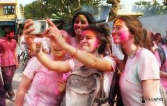 Happy Holi Festival (Salvatore Capici) Tags: holifestival colors people india mathura street happiness girls pink joy