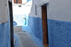 Light and Shadow in Blue Town, Rabat (meg21210) Tags: bluetown rabat morocco light shade streetscene blue alley street narrow pots vases doors window doorways moroccan shadow rue ruechbanate
