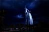 Arabian night (Gio_ guarda_le_stelle) Tags: night arabian dubai notte clouds cloudy building tower burji storm nuvole tempesta desert