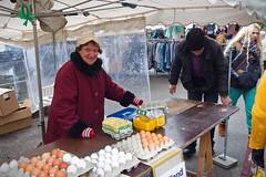 She is the egg woman (chipje) Tags: streetmarket vendor woman eggs portrait wilhelmplatz nippes cologne koeln keulen