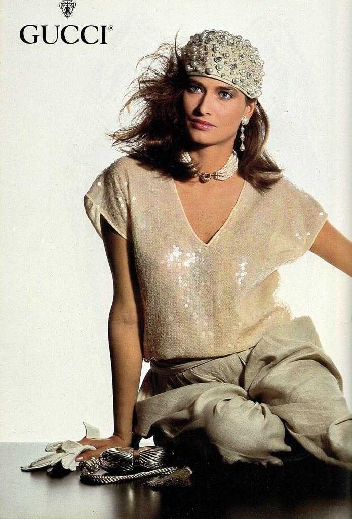 d262a04fcc0537 Gucci 1983 (barbiescanner) Tags  vintage retro fashion vintagefashion 80s  80sfashions 1983 80sads gucci