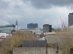Birmingham skyline from Pickford Street, Digbeth (ell brown) Tags: digbeth birmingham westmidlands england unitedkingdom greatbritain eastersunday easter aprilfoolsday pickfordst skyline birminghamskyline bttower bttowerbirmingham colmoregate mclarenbuilding crane cranes dalehouse