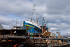 'Reul a Chuain' getting fixed up at the Mallaig Boatyard (ho_hokus) Tags: 2018 escocia fujix20 fujifilmx20 mallaig schottland scotland scozia unitedkingdom écosse boat trawler fishingboat boatyard reulachuain