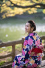 Young woman in Kimono taking break in public park (Apricot Cafe) Tags: img89213 asia asianandindianethnicities canonef85mmf14lisusm japan japaneseculture kimono malaysianethnicity positiveemotion tokyojapan charming comfortable day expectation happiness hopeconcept inokashirapark lifestyles lookingovershoulder nature oneperson oneyoungmanonly ourdoors pond publicpark railing relaxing sitting smiling springtime sunlight threequarterlength toothysmile tourism tradition traveldestinations water women youngadult