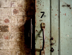Door (only lines) Tags: door number 7 seven handle chatham dockyard