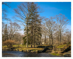 Down by the River (Timothy Valentine) Tags: 2018 warmemorialpark large 0418 trees sky friday townriver fence westbridgewater massachusetts unitedstates us
