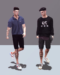 The Broken Hearts Club (MATTY // *OMG*) Tags: sl secondlife men mens male blog blogger style outfit look lotd clothes clothing mesh new event tmd mancave exclusive wear street urban cool hipster versov glasses speakeasy tats complex shirt dufaux shorts doux hair shoeminati sneaks sneakers lowtops volthair clefdepeau sweater invictus betrayal