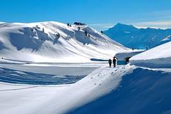 The journey is the reward (sylviafurrer) Tags: berge mountain schnee snow winter hiking wandern wallis valais