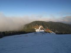 Looking back (aniko e) Tags: gindlalm gindlalmschneid hausham germany winter hiking outdoors bavaria bayern bavarianprealps bayerischevoralpen cloud sunshine snow