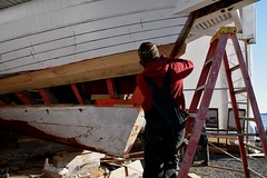 Edna Lockwood log-hull restoration (Chesapeake Bay Maritime Museum Photos) Tags: edna lockwood bugeye nine logs restoration cbmm chesapeakebaymaritimemuseum stmichaelsmd