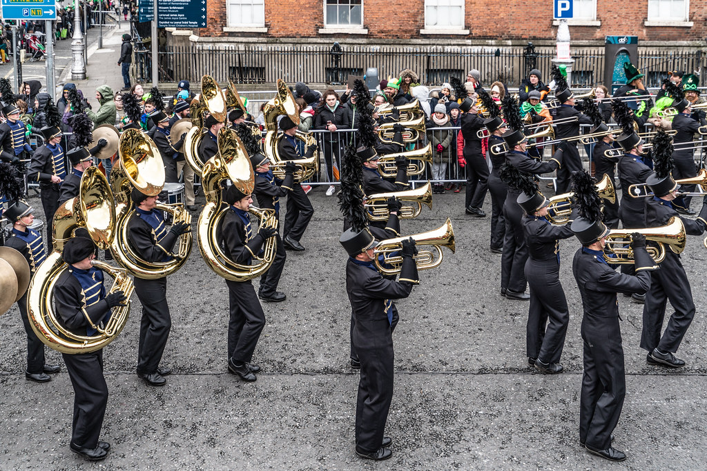 Legacy High School Lightning Marching Band [St. Patricks Day Parade 2018 In Dublin]-137534