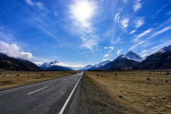 Roadtrip (Kitonium) Tags: mtcooknz mtcook roadtrip nz new zealand road sky mountains field nature outdoor landscape sony a7m2 travelling travelgram bbctravel natgeo natgeotravel national geographic lonelyplanet