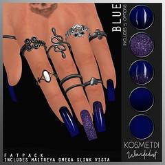 .kosmetik Nail Applier - Wanderlust Blue (.kosmetik) Tags: kosmetik maitreya omega slink vista nails newrelease