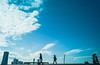 fine day (N.sino) Tags: m9 biogon28mm leica carlzeiss yokohama landmarktower oosanbashi 横浜 大桟橋 空 雲 闊歩