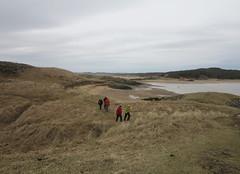 paths around llanddwyn (squeezemonkey) Tags: northwales snowdonia winter castlestafftrip newboroughbeach anglesey ynysllanddwyn group walking beach sky clouds dunes grass landscape