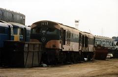 CIE class 201 locos 208 and 219 at Vic Berrys Yard 1990. (Mr Corbett's stuff) Tags: cie 208 219 vic berrys scrapyard scrap irish rail