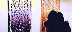 Due (Colombaie) Tags: roma trastevere exibition mostra vernissage apertura streetartist jonone streetart nientepuòfermarmi writing tagging riflessione autoaffermazione nome ripetizione infinita tela palazzovelli cultura arte contemporanea gente persone visitatori ritratto donna donne femmina dischiena candid coppia due bicchiere silouette tele life