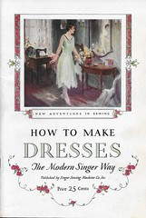 Singer How to Make Dresses Guidebook Cover (Edlunddesign) Tags: ephemera vintage 1920s 1930s usa singersewingmachine sewing tailor graphicdesign branding typography logo household publishing diy housewife women clothing dressmaking