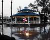 California March Rain (Boyce Duprey) Tags: rain california tulare wet storm tropicalflow umbrella selectivecolor selectivecolour bandstand