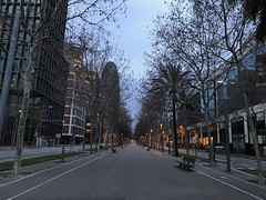 Westward view along Avinguda Diagonal (procrast8) Tags: barcelona spain avinguda diagonal torre agbar tower