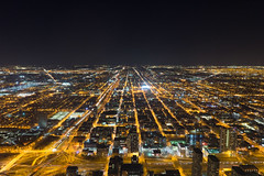 View from the Willis Tower in Chicago (Marius Brede) Tags: sonya7ii sony alpha sonyilce7m2 sonyfe28mmf2 28mm f2 chicago skyline willistower night city cityscape nightscape