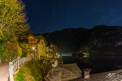 Stars Looking At A Planet (Tim van Zundert) Tags: hdr highdynamicrange hallstatt gmunden salzkammergut austria hallstättersee europe lake water reflection mountains sky stars town village houses night evening longexposure sony a7r voigtlander 21mm ultron