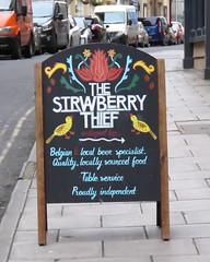 The Strawberry Thief (EMStanton) Tags: bristolcitycentre bristol pubsigns