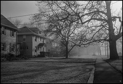 Frost and Fog, West Peoria (argentography) Tags: westpeoria illinois midwest frost fog kodak medalist ilford hp5