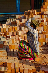 A woman carrying brick (phuong.sg@gmail.com) Tags: asia asian bicycle brick build business carry color construct construction country developing economy environment field handcart hard heat hindu hinduism india indian industry life lifestyle load manufacturing myanmar nature open outdoor people primitive rural soil technology transportation village weight woman work worker