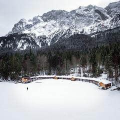 Boathouse (Fabian Fortmann) Tags: bavaria eibsee zugspitze germany deutschland lake blue winter ice snow schnee