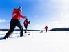 Off-track skiing with a dog (VisitLakeland) Tags: nature ice winter snow sky lake active ski finland metsäkartano offtrack people dog animal pet visitfinland umpihankihiihto hiihtää koira talvi jää lumi järvi suksi sauva