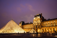 Louvre and the Pyramid (aristantoaryo) Tags: europe traveling travel holiday trip eurotrip destination paris france museum pyramid musee louvre nightshot lights buildings architecture tourism tourist history