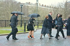 close friends and family arrive (James O'Hanlon) Tags: sir ken dodd sirkendodd kendodd funeral cathedral anglican liverpool liverpoolcathedral anglicancathedral stars knotty ash knottyash squire legend comedy