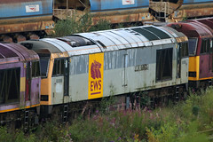 60088, Toton, August 4th 2017 (Southsea_Matt) Tags: 60088 ews dbs class60 brush type5 totondepot nottinghamshire england unitedkingdom summer 2017 august canon 80d 100400mm diesellocomotive train railway transport scrapline derelict redundant northbank northyard