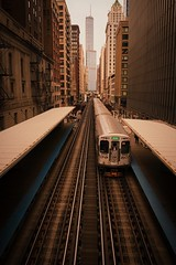 11/100x: Riding the L Train. (jenniferdudley) Tags: trainspotting trains elevated nikkor2470mm nikond850 nikon tourist midwest chicago ltrain travelphotography travel train